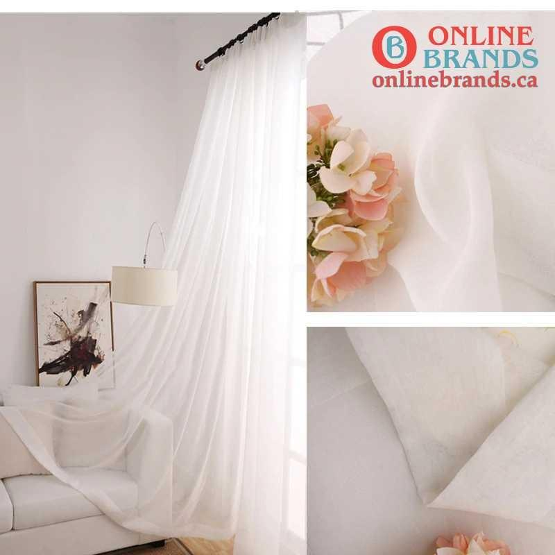 Short curtain | White curtains | Online Brands | Free shipping in Canada