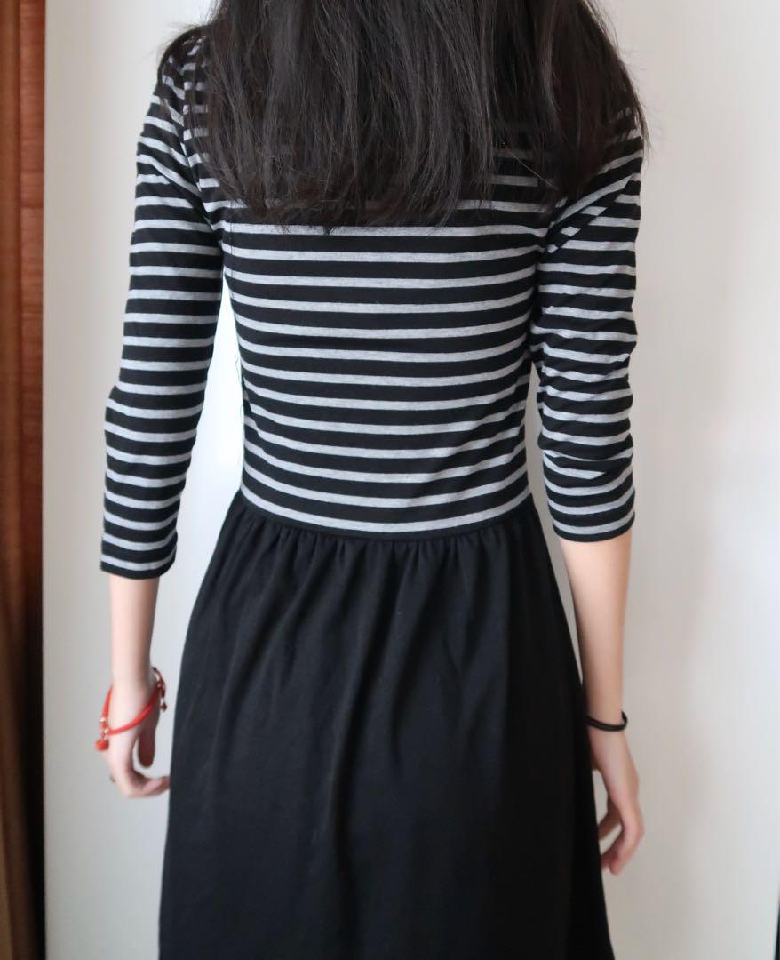 Size extra small: striped dress