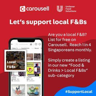 #SupportLocal F&Bs - List on Carousell