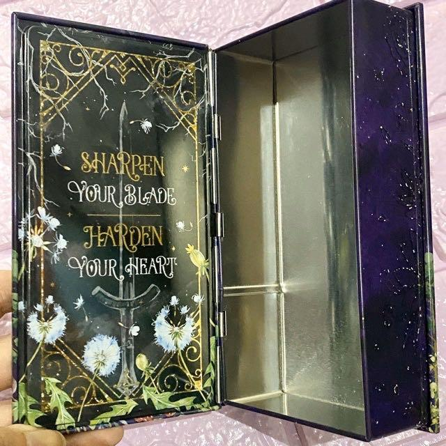 The cruel prince holly black owlcrate exclusive special edition book tin storage tin book merch the wicked king