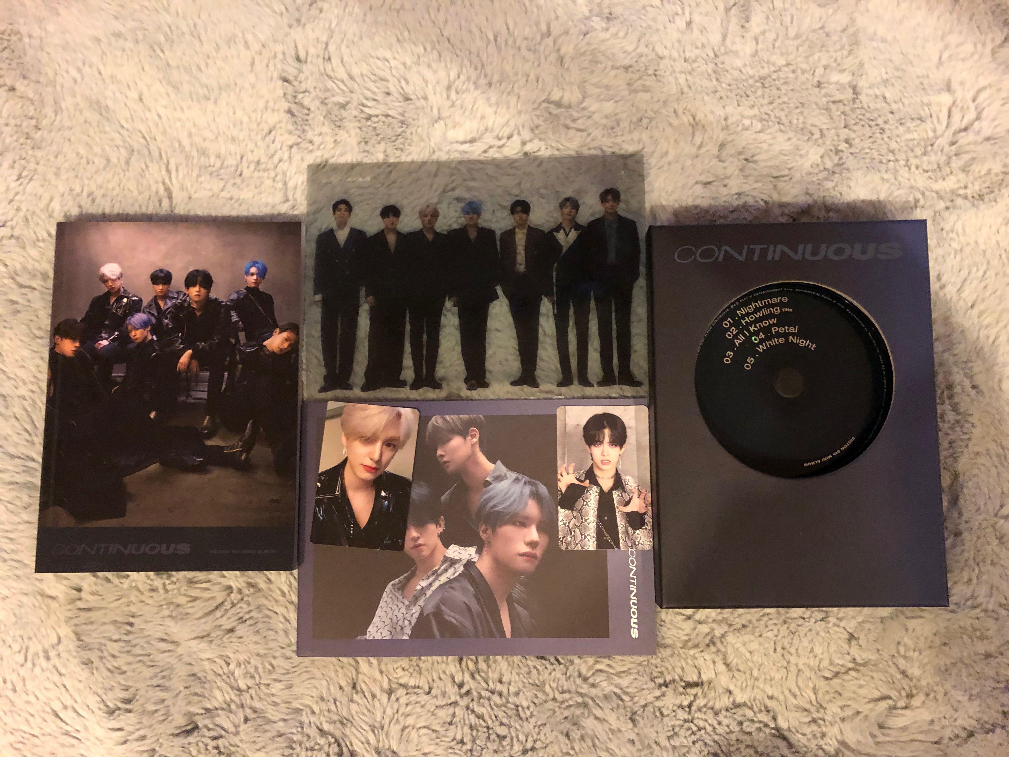 Victon Continuous Album Dark ver (Subin AR PC & Heo Chan PC)