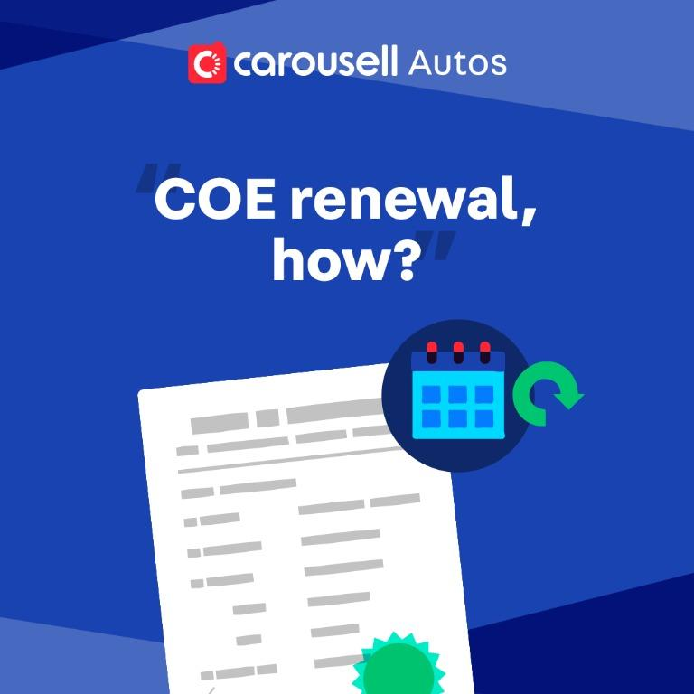 Where can I go to renew my vehicle's COE during this Phase 1: Safe Re-opening period?