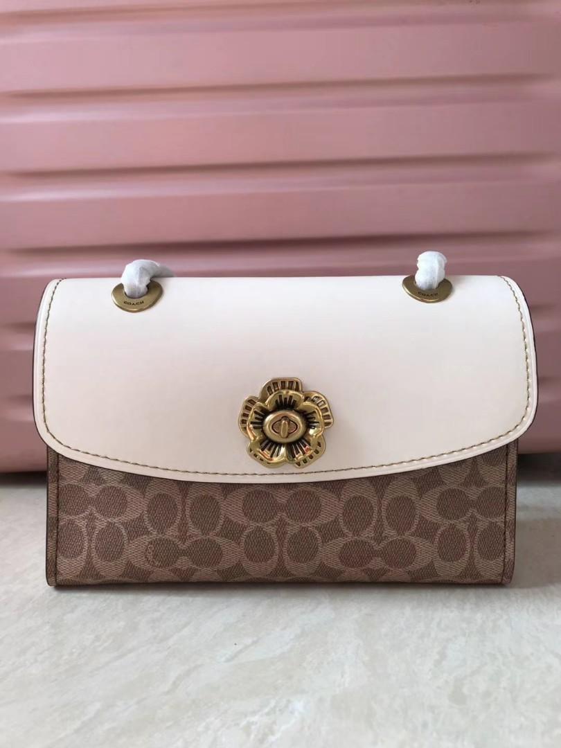 Authentic coach 30585 Parker tea rose women shoulder bag 30585 sling crossbody handbag