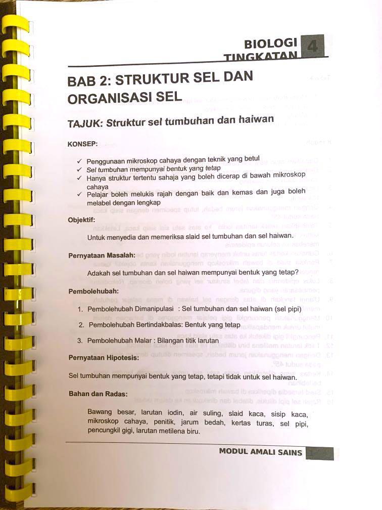 Biologi Kertas 3 Spm Koleksi Soalan Jawapan Tingkatan 4 5 Textbooks On Carousell