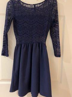 Blue Aztec Lace Dress