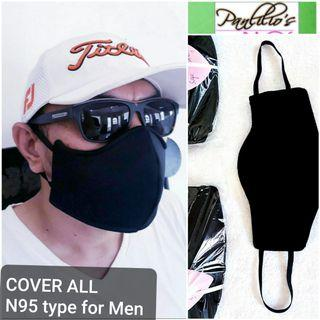 BUY1TAKE1 EARGUARD+Cover ALL 3Layers N95 Type MEN Face Mask Design#051  Gucci Black fits❤all washable with filter REVERSIBLE