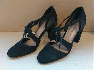 Ghillie block heels Payless Christian Siriano Kami hitam size 10 (US) 42.5 (EU)