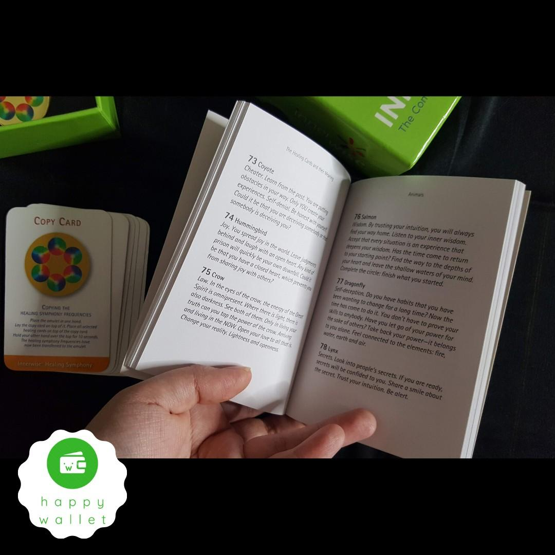 ORIGINAL 300 cards Tarot Oracle Innerwise The Complete Healing System with Healing Pendant Amulet