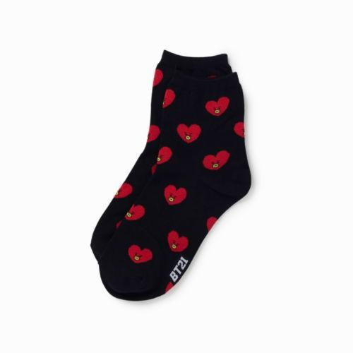 🔥Ready Stock 🔥Kpop BTS BT21 Christmas Cotton Socks Unisex Winter Warm Long Sock TATA CHIMMY RJ Hipster Socks