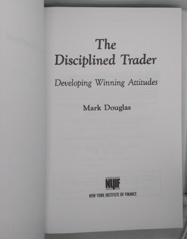 The Disciplined Trader book hardbound Mark Douglas stock market trading psychology