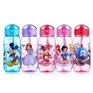 Tritan 450ml Kids Straw Waterbottle BPA Free Disney Princess Avengers Mickey Minnie Mouse Sofia Flip Top
