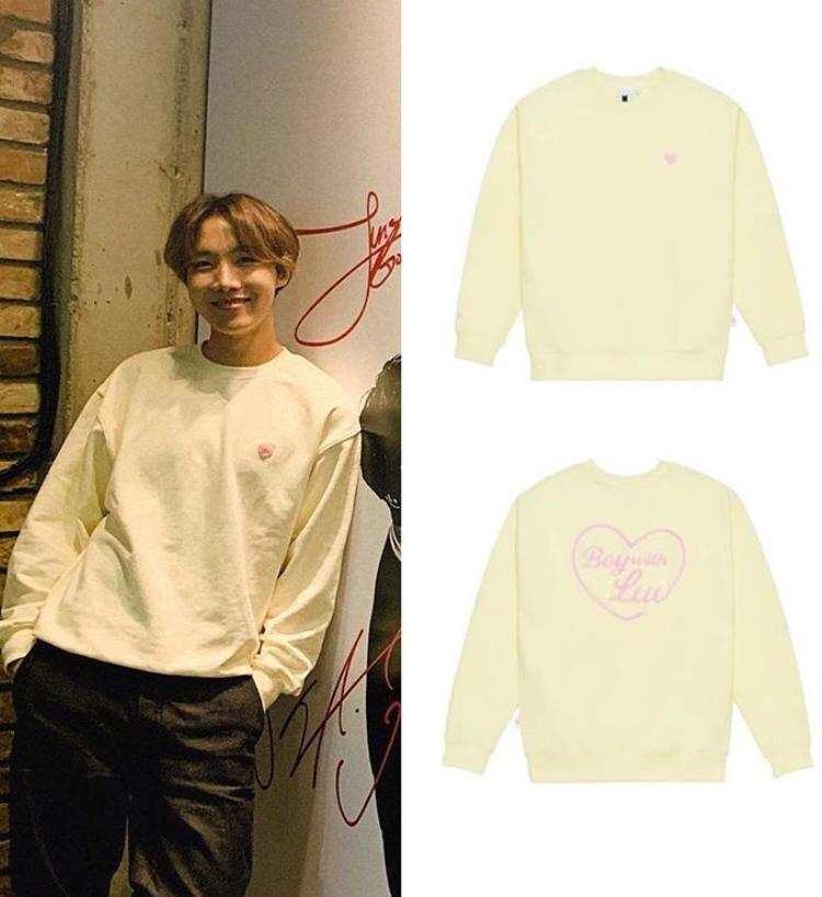 UNOFFICIAL BTS BOY WITH LUV EMBROIDERED SWEATSHIRT