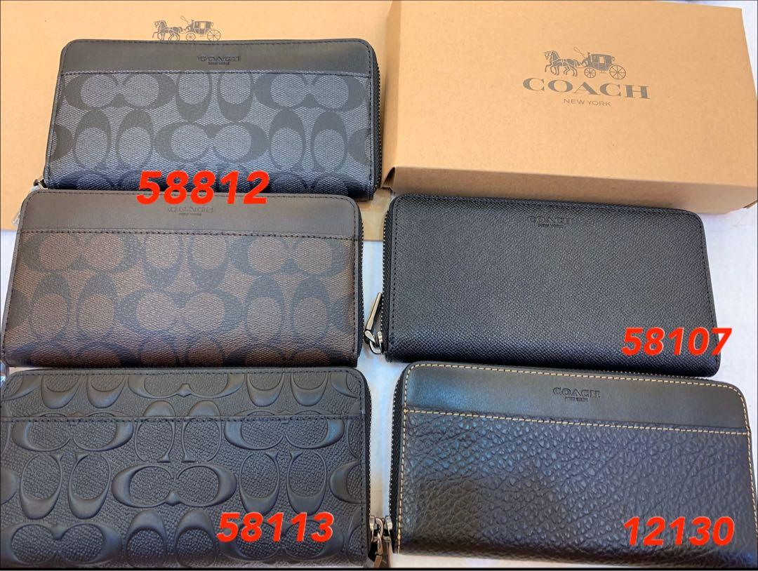 (19/04/20)Ready stock authentic coach men wallet purse clutch backpack money clips card holder hb n