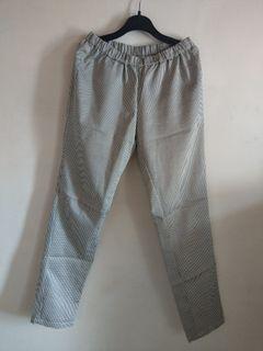 千鳥格紋長褲