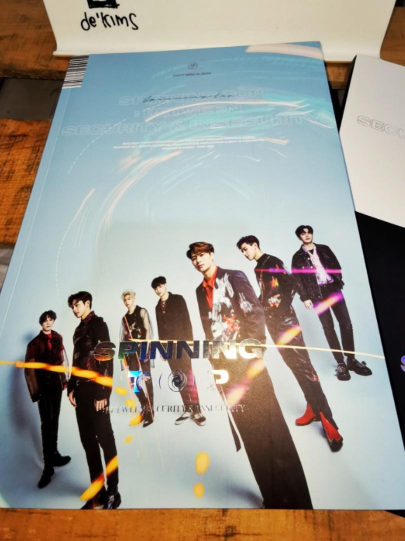 Album got7 kpop spinning top special cover Mark no photocard
