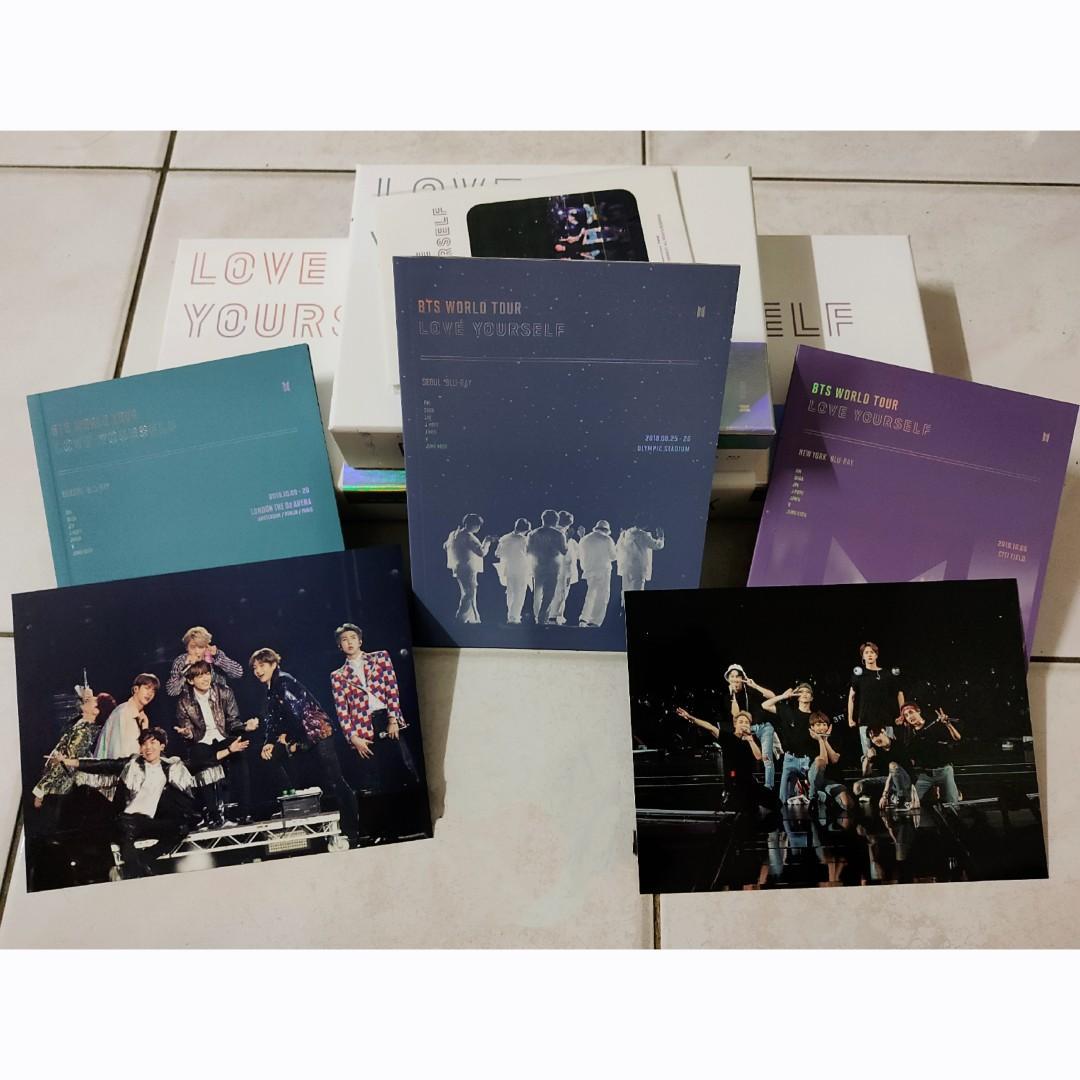 BTS Love Yourself in Seoul/New York/Europe Blu Ray