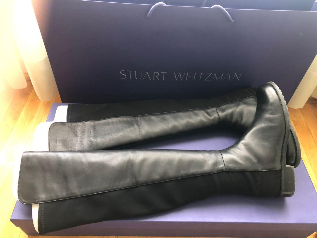 Excellent condition Stuart Weitzman  5050 in black nappa leather