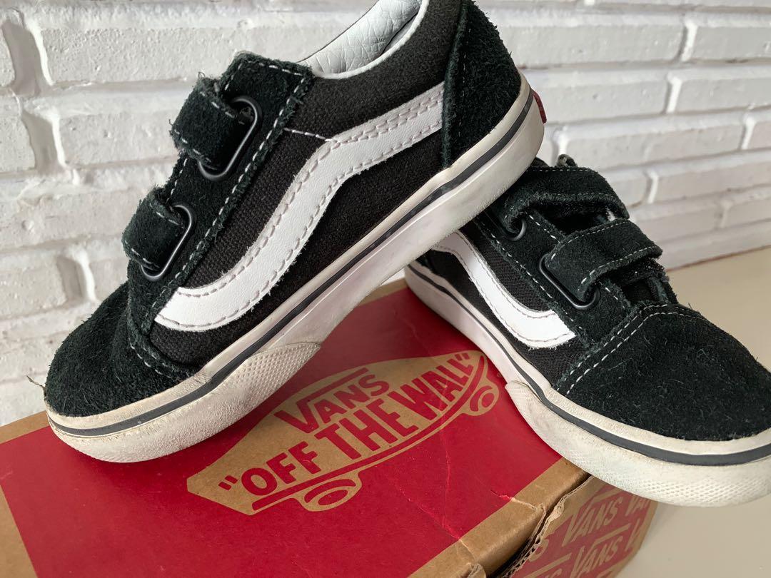 Kids Vans Old Skool V Black Shoes