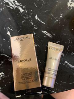 蘭蔻Lancôme 絕對完美黃金玫瑰修護眼霜3ml