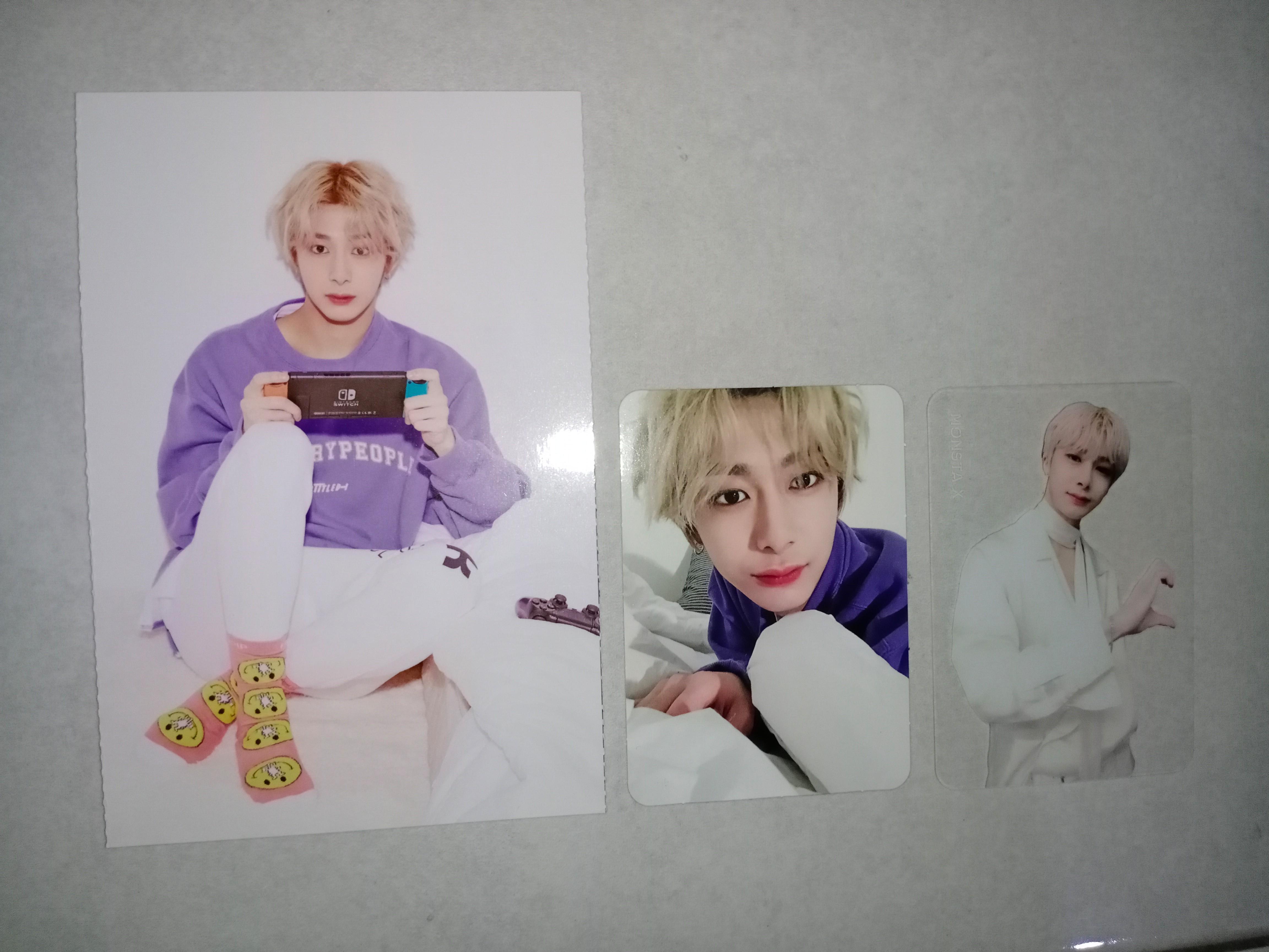 MONSTA X CHANGKYUN & HYUNGWON OFFICIAL PHOTOCARD+POSTCARD
