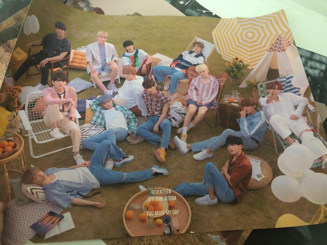 [PRELOVED] SEVENTEEN Official You Make My Day Poster
