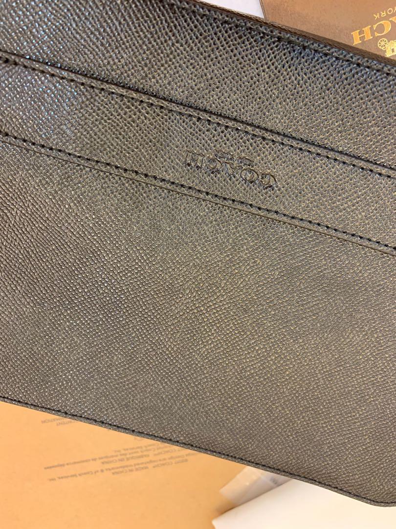 Ready Stock Authentic Coach 59117 men clutch big wallet money clips purse