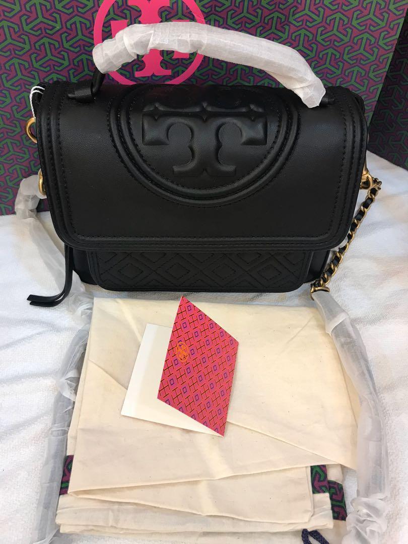 Ready Stock authentic Tory Burch top handle women Fleming crossbody sling bag handbag in calf leather hhbn
