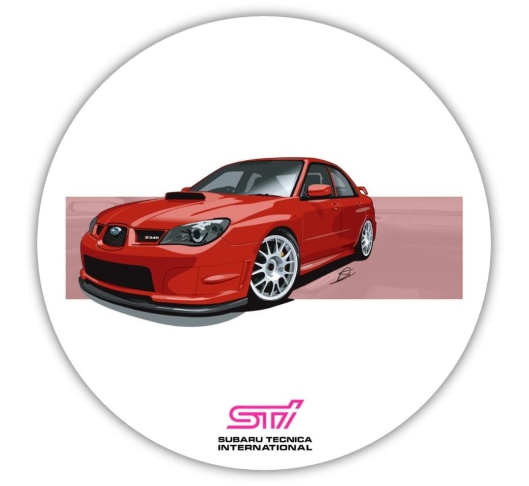 JDM Subaru Impreza WRX STi GDB Rear WRX IMPREZA STi Emblem Triple Badge JAPAN