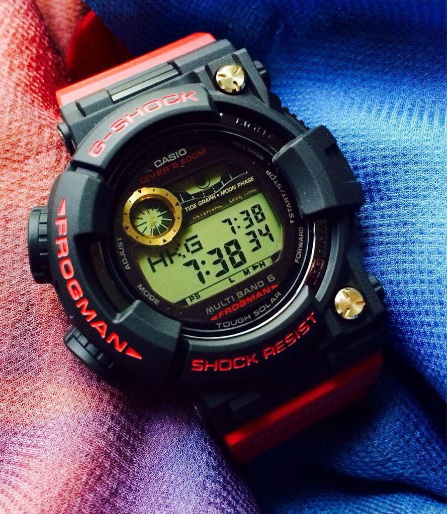 100% Authentic New limited edition G-Shock 30th Anniversary Rising Red Frogman GWF-T1030A-1JF Band, Bezel & Rear Cover / undies Set rare