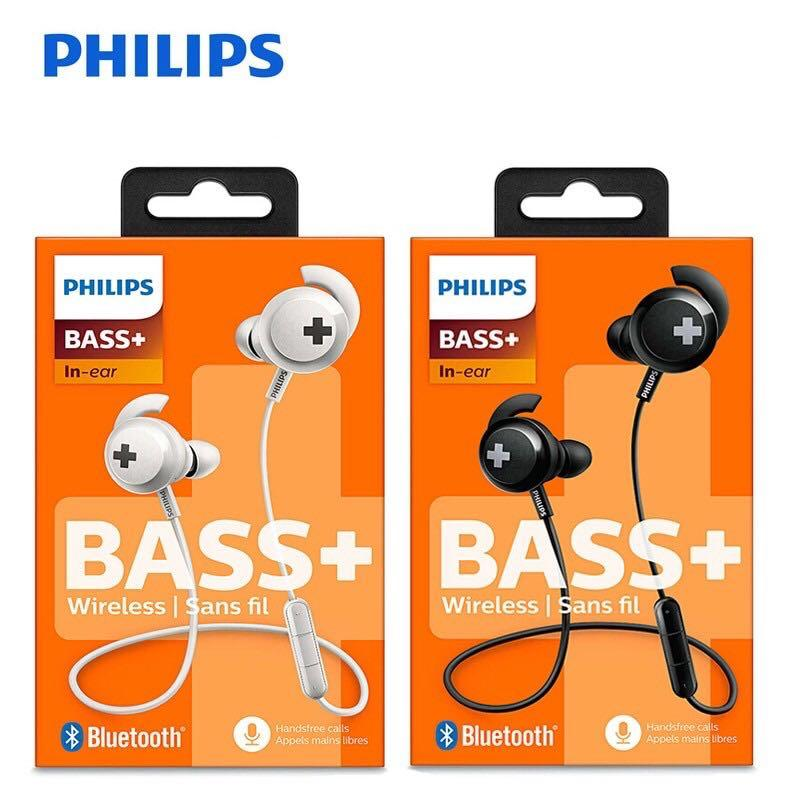 Support Zoom Philips Shb4305wt 00 Bass Bluetooth Earphones Wireless With Mic Deep Bass Electronics Audio On Carousell