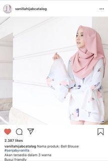 Bell blouse pink (vanilla hijab preloved)