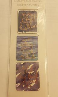 Brand New Magnetic Page Markers with Motivational Quotes