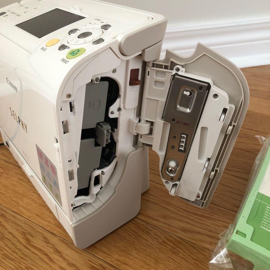 Canon Selphy ES2 Photo Printer & 2 paper/ink cartridges & Adaptor