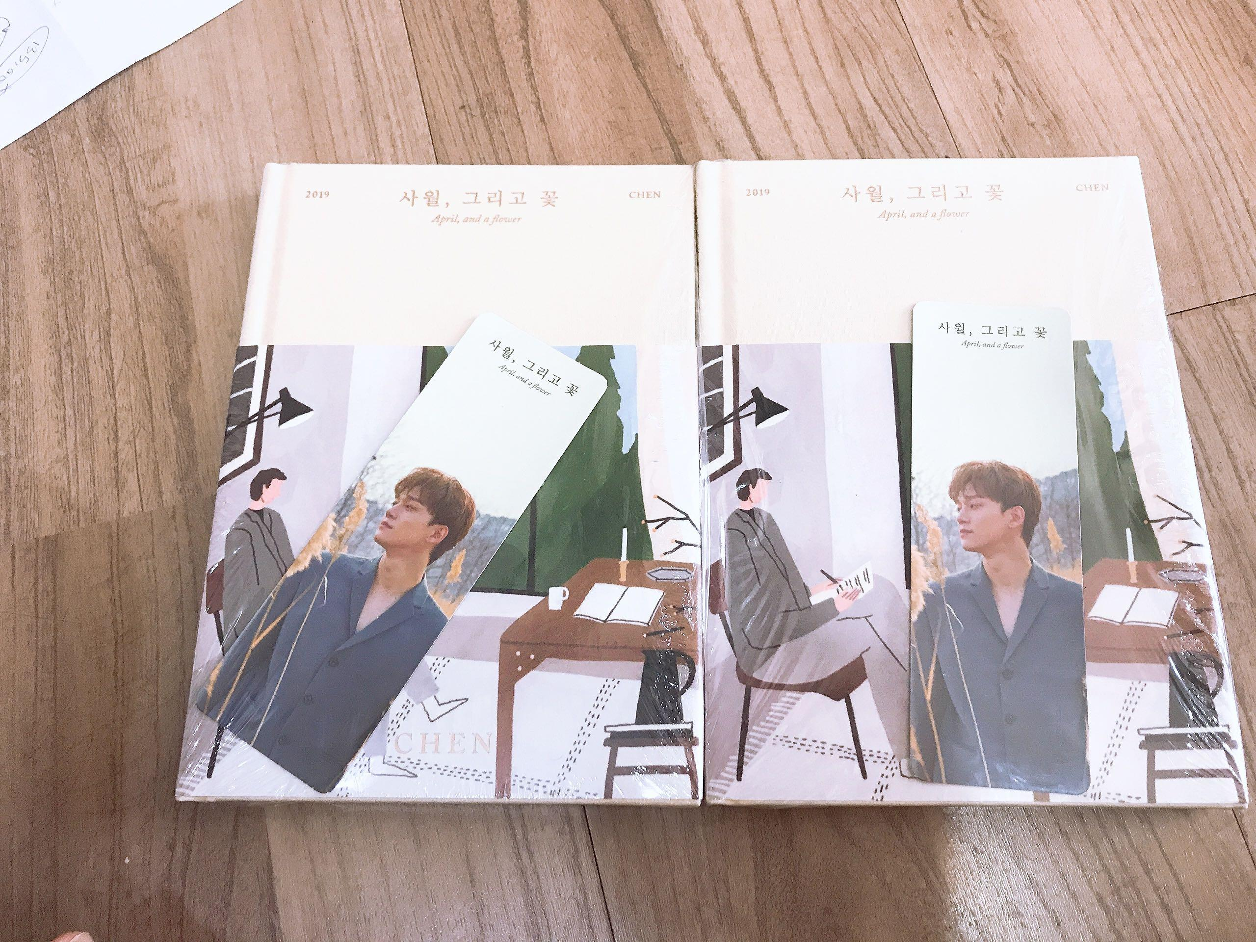EXO CHEN SOLO ALBUM APRIL AND A FLOWER (FLOWER VERSION) + bookmark