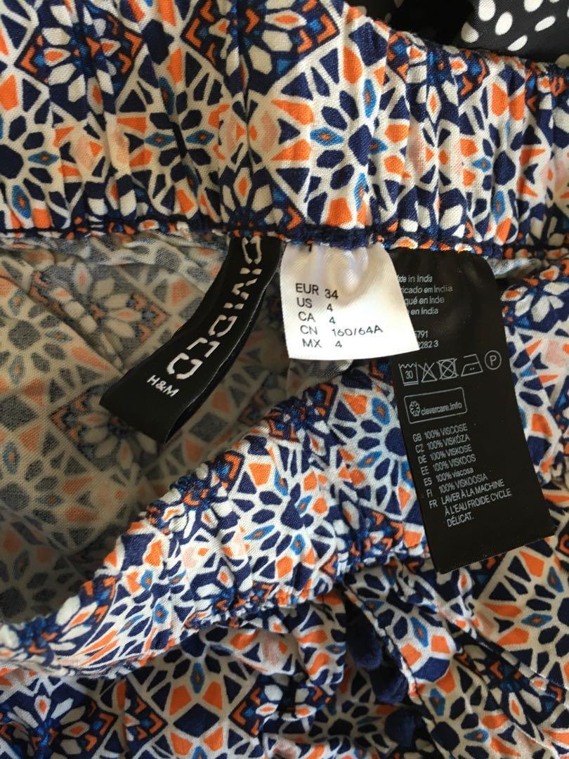 Flowy patterned shorts