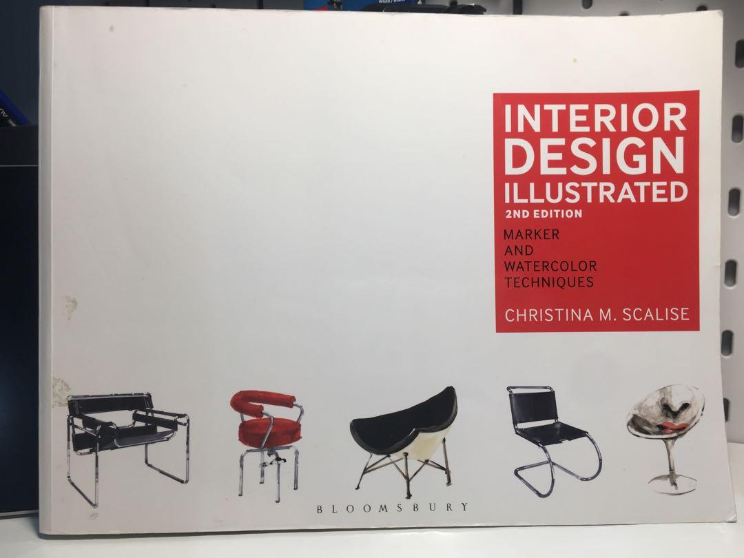 Interior Illustrated - marker and water color technique