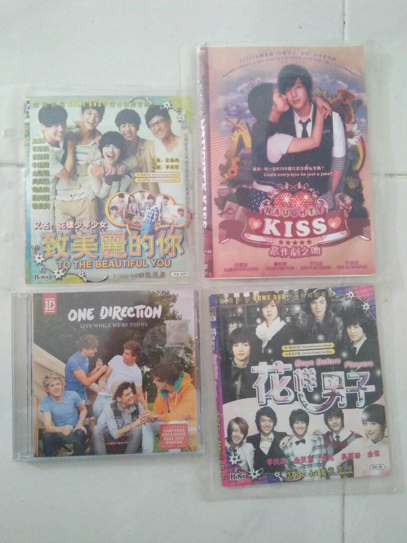 Korean drama dvd & One Direction. Boy over flower, to the beautiful you, naughty kiss