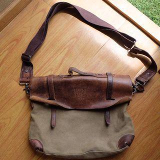 Leather postman bag