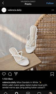 NEW! Valencia Daily Milan Sandals in White (Size 38)