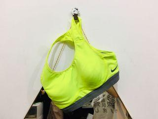 Nike XS 螢光黃運動 bra 運動內衣