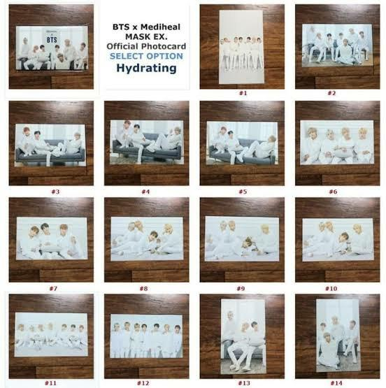 Photo Card Mediheal x BTS Hydrating Care Special Set