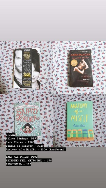 Preloved Books. Silver Linings Playbook. Dark Places. Stupid is Forever. Anatomy of a Misfit