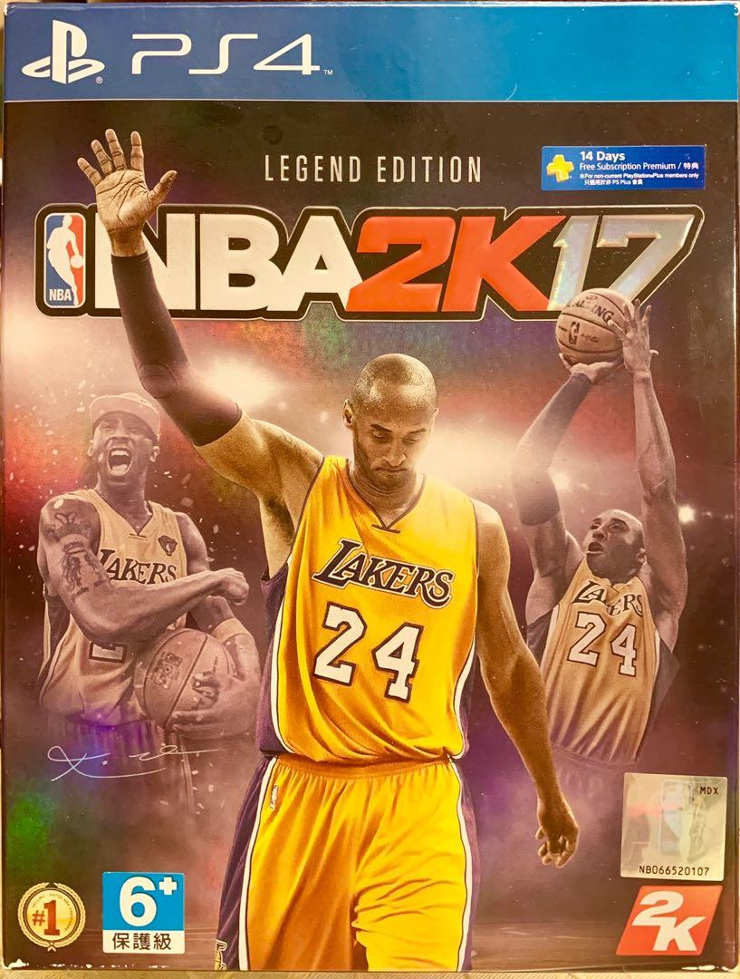 PS4  NBA2K17 Legend Edition Kobe Bryant NBA遊戲光碟片