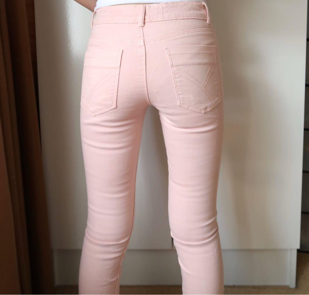 Size 4: coloured skinny jeans