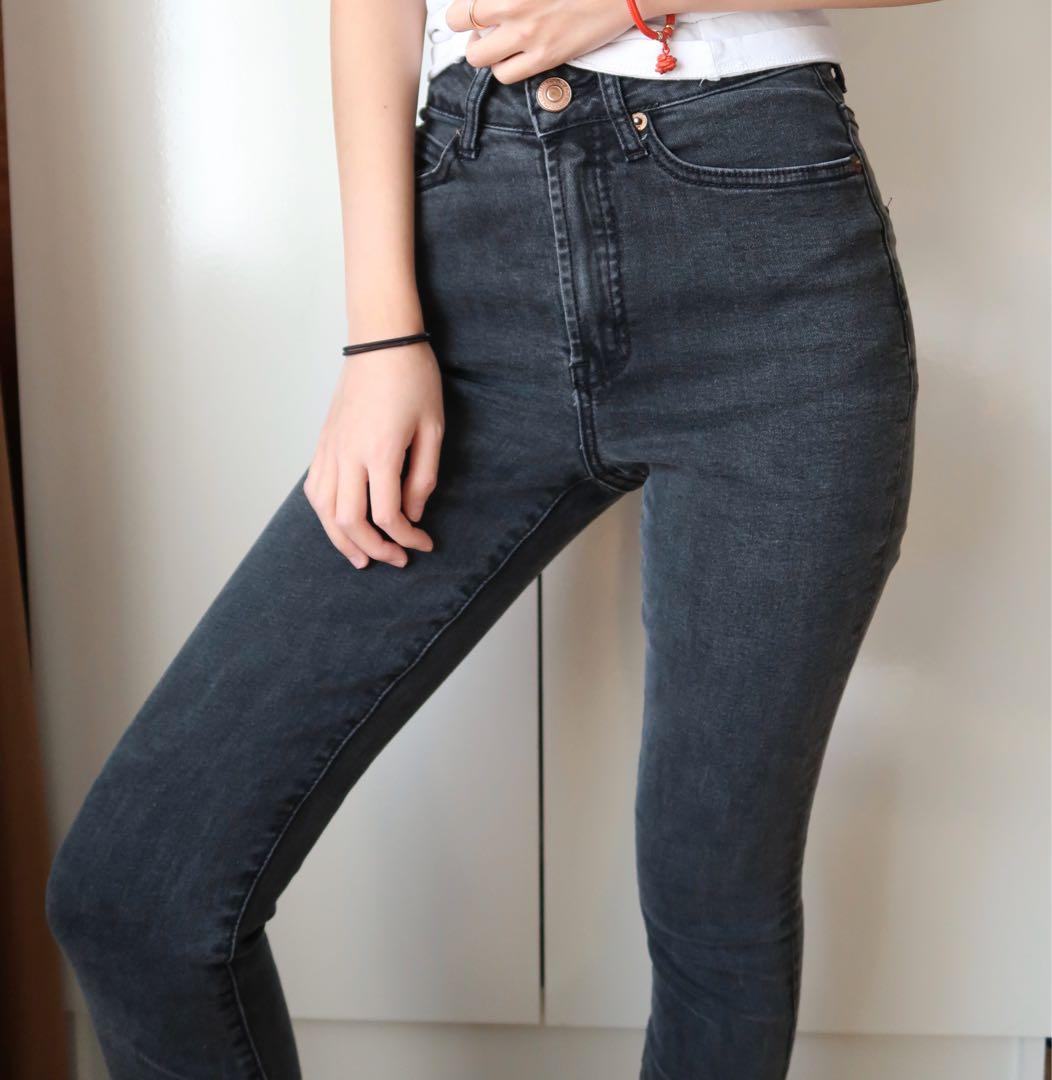Size 6: black high waisted skinny jeans