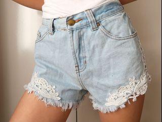 Size 6: denim shorts