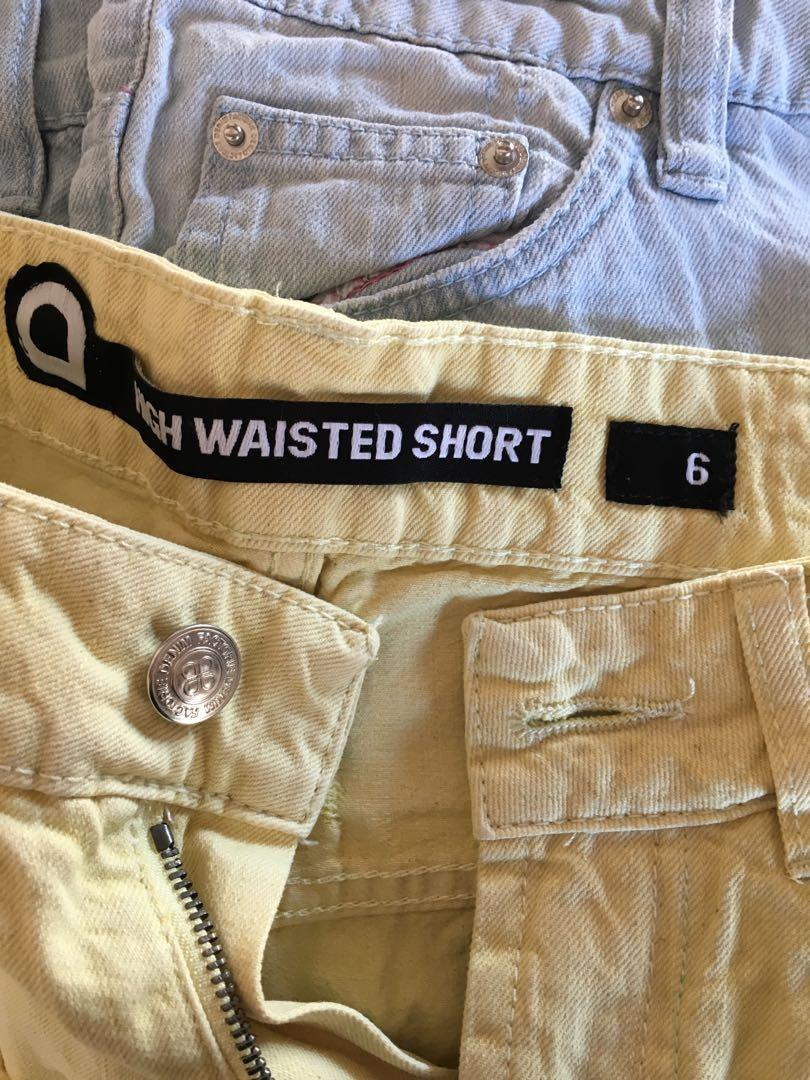 Size 6: yellow denim shorts