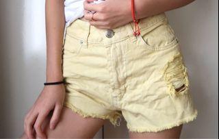 Size 6: yellow denim shorts