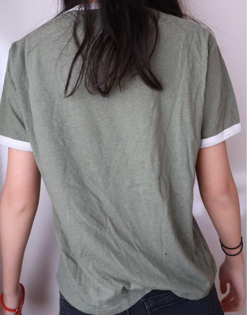 Size small: New York green crop top