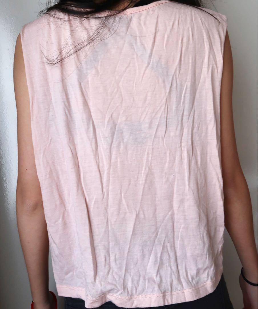 Size small: pink tank top